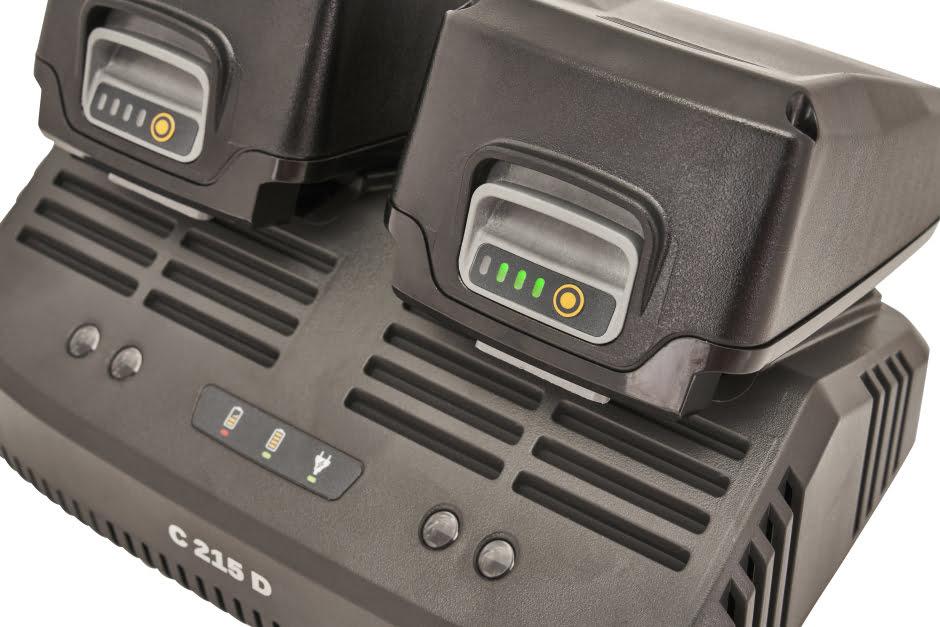 STIGA C 215D - Dobbeltlader 20 Volt til 100 serie