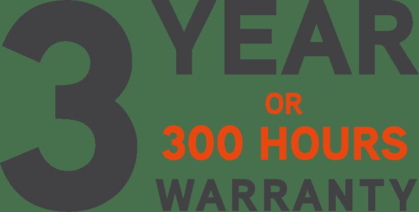 Ariens garanti Zero turn 3 år eller 300 timer