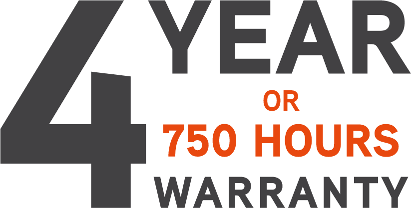 Ariens garanti på zero turn 4 år eller 750timer